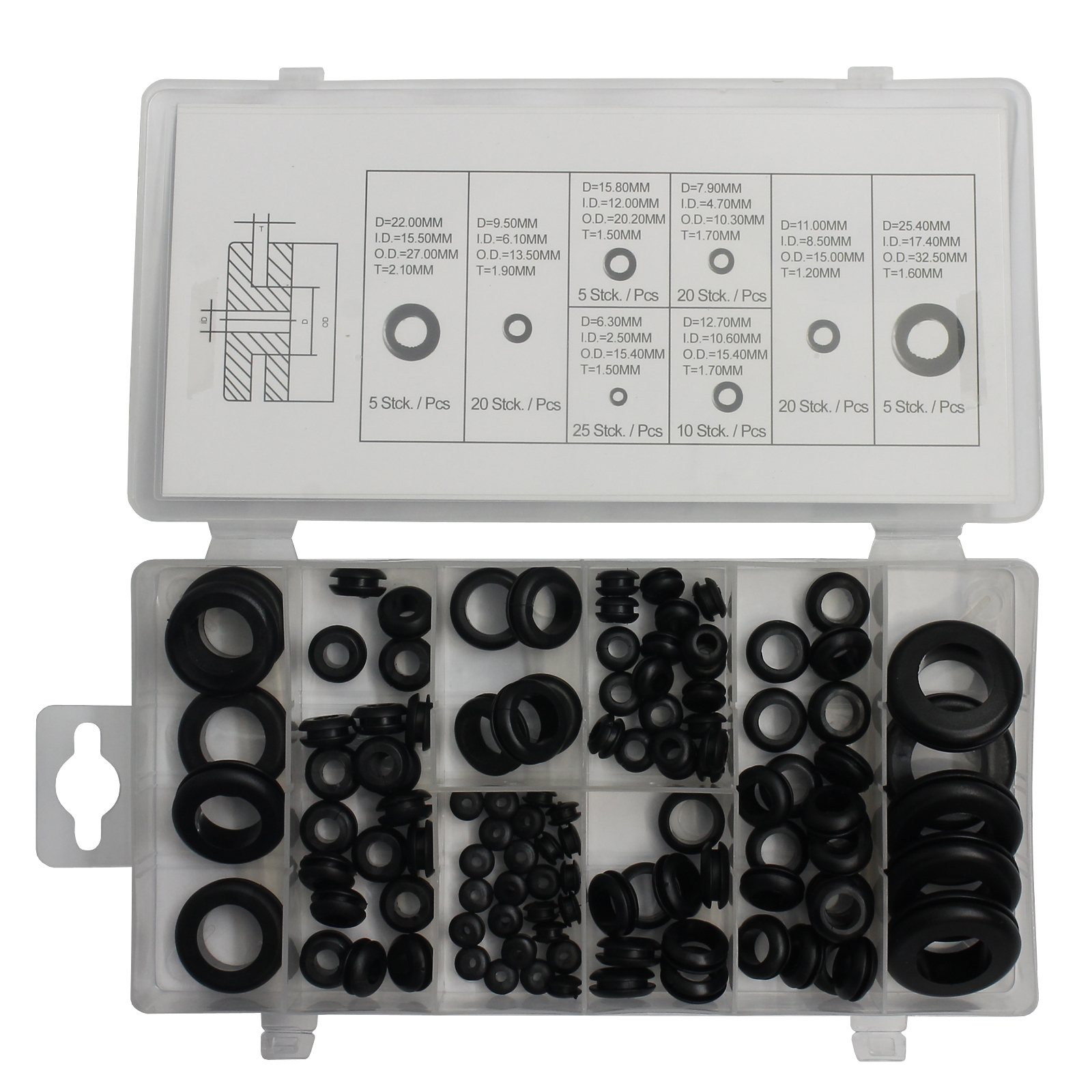 für Innen 14-145 Normex Qualitäts-Werkzeuge Sprengring-Sortiment 180-tlg